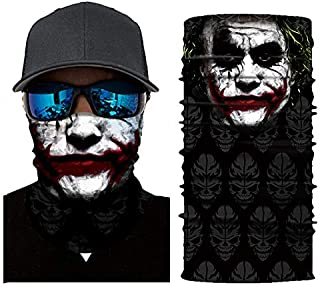 Skull Face Mask Cycling Bandana for Dust Headband Magic Scarf Head Wrap Neck Warmer