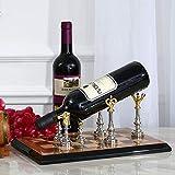 WLABCD Hogar de Vino Hogar Rojo Titular de Vino Rack Rack Bar S, Estilo de Ajedrez de Madera Iza Personalidad Creativa Moda de Vino Decoración de la Sala de Estar Restaurante Hogar Práctico