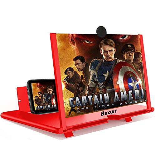3D Screen Magnifier 12-inch HD Mobile Smartphone Video Magnifier Support X / 8/8 Plus / 7/7 Plus / 6 / 6s / 6 Plus / 6s Plus and All Other Smartphones