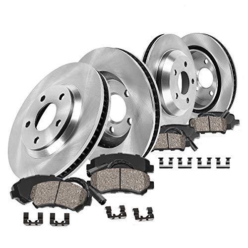 Callahan FRONT 347.94 mm + REAR 344.94 mm Premium OE 5 Lug [4] Brake Rotors + [8] Ceramic Pads + Sensors + HDW CRK01172