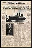 Titanic - Newspaper Zeitung New York Times Film Poster