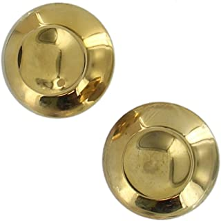 Small Gold Tone Crater Imprint Abstract Button Circle Stud Pierced Earrings 7/8