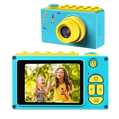 """ShinePick Cámara Digital para Niños,Zoom Digital de 4X / 8MP / 2"""" TFT LCD de la Pantalla Cámara Fotos con Tarjeta de Memoria (Azul)"""