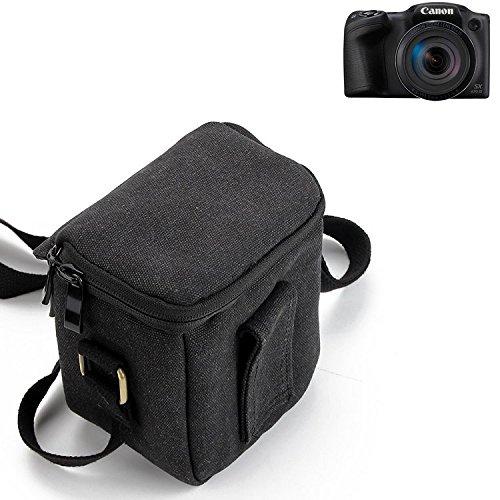 K-S-Trade para Canon PowerShot SX430 IS Cámara Bolsa Funda De Hombro Estuche Bolso Compacto Resisten A Los Golpes Protección, Negro
