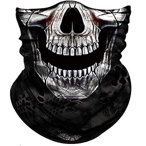 Obacle Skull Face Mask Half