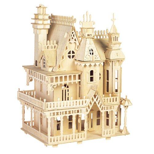 ETNA Iława Fantasia Villa 3D Holzbausatz Puppenhaus Holz Steckpuzzle Holzpuzzle Kinder DH004