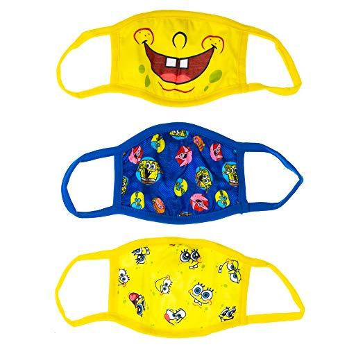 Youth SpongeBob SquarePants Reusable Face Masks (3-Pack)