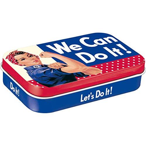 Nostalgic-Art 82115 USA - We can do it | Pillen-Dose XL | Bonbon-Box | Metall | mit Pfefferminz-Dragees