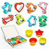 Sandwich Cutters for Kids – House – Heart – Star – Bone – Dinosaur – Dog – Tree – Dolphin Cookie Cutters Shapes with Reusable Silicone Cupcake Cups sandwich makers May, 2021