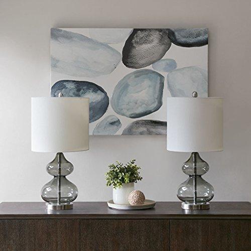 "(Set of 2) 25.3"" Ellipse Table Lamp (Includes LED Light Bulb) Gray"