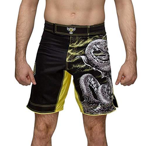 Raven Fightwear Thor Yellow Fight Shorts Men's MMA Combat BJJ Boxing Grappling Fitness Kickboxing No Gi