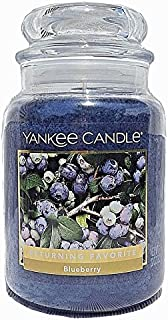 Yankee Candles Blueberry Large Jar Candle,Fresh Scent