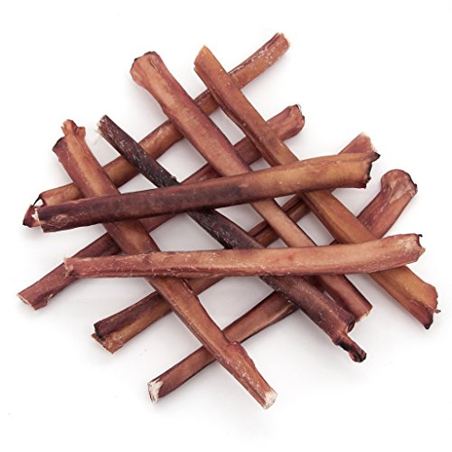 GigaBite Odor-Free Bully Sticks - All Natural, Free Range Beef Pizzle Dog Treat - by Best Pet Supplies