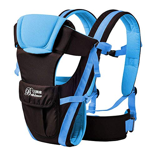 2-30 Months Baby Carrier, Ergonomic Kids Sling Backpack Pouch wrap Front Facing Multifunctional Infant Kangaroo Bag (Blue)
