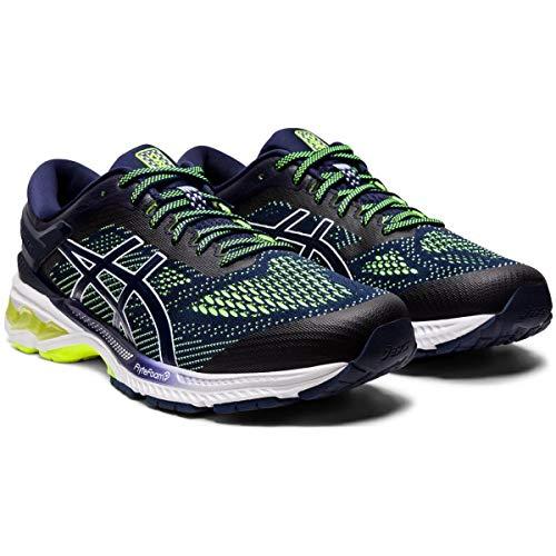 Asics Gel-kayano 26, Men's Running Shoes, Peacoat / Safety Yellow, 6.5 UK (40.5 EU)