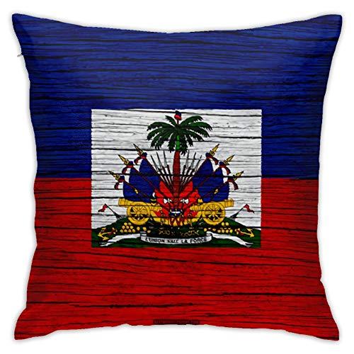 Federa per cuscino per divano e divano, 45 x 45 cm, motivo bandiera haitiana