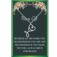 女性用ナースギフト シルバー聴診器 ナースネックレス 医師 看護師 卒業ギフト