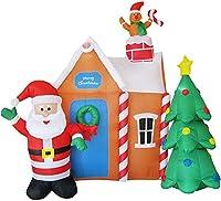 インフレータブルサンタ、クリスマスツリーのライトインフレータブルモデルクリスマスの装飾の小道具クリスマスインフレータブルモデルLED照明ガーデンアウトドア