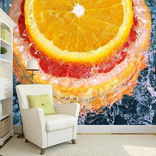 IWJAI Fotomurales decorativos Naranjas de fruta fresca, frutería Fotomural Vinilo de Pared para Paredes Decoración Hogar Pared Fotomurales ParedFotomural Decorativo Vinilo Decorativo