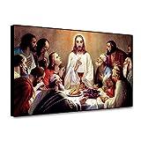 RTCKF The Last Supper Painting Poster and Print Vintage Wall Art para impresión en Lienzo de Pared decoración del hogar Sala de Estar Mural A2 40x50cm