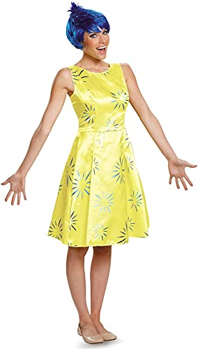 Deluxe Adult Inside Out Joy Fancy dress costume X-Large