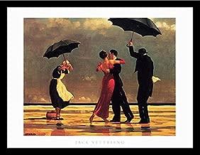 Buyartforless IF IF HP018060 31.5x23.5 1.25 Black Framed The Singing Butler by Jack Vettriano 34X26 Art Print Romantic Dancing with Umbrellas, 34