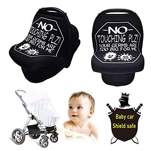 Baby Car Shield, Universal Passeggino Copertina, Impermeabile Antivento Meteo Dust Shield Protezione Trasparente per Passeggino Passeggino Passeggino Carrozzina Carrello Car,Nero