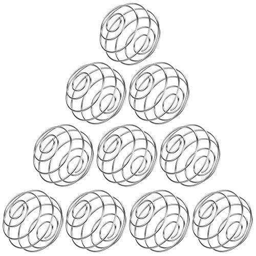 Kbnian 10 Stück Edelstahl Protein Shaker Sport Fitness Shaker Eiweiß, Stainless Blender Mixing Ball Kugel Protein Mixer Shaker Bottle Cup Wire Whisk