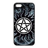 LeonardCustom Protective TPU Rubber Silicon Cover Case for iPhone 5 / iPhone 5S , Supernatural LCI5U48