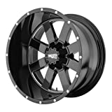 Moto Metal MO962 Gloss Black Wheel With Milled Accents (18x10'/6x139.7mm, -24mm offset)