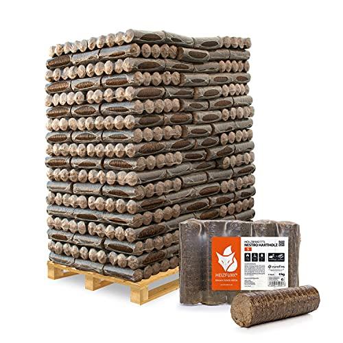 HEIZFUXX Holzbriketts Hartholz Nestro S Kamin Ofen Brenn Holz Heiz Grill Brikett 6kg x 162 Gebinde 972kg / 1 Palette Paligo