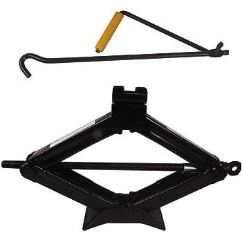 GNEY Scissor Jack 1.5 Ton Car Jack Set for scissor Jack with lifting rod all hatchback & Sedan (Capacity 1500kg)