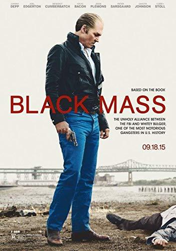 Desconocido Póster de película Black Mass de Fotografia, película 2015 Johnny Depp Whitey Bulger Brillante 1 (A5-A4-A3), A3