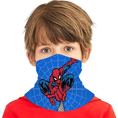 Spider Super-Heroes Man Bandanas Neck Gaiter Kids Childrens Multi Funtion Uv Protection Scarf Headband