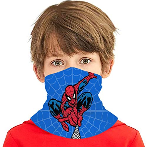 Spider Super-Heroes Man Bandanas Neck Gaiter Kids Childrens Multi Funtion Uv Protection Scarf Headband