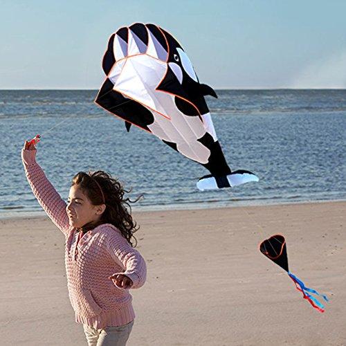 Loijon 3D Kite Huge Frameless Soft Parafoil Gigante Ballena Volar Cometa