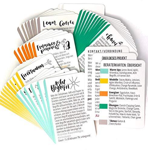 Workshops agil gestalten mit Wondercards (Methoden-Spiele-Tools) Coaching-Karten-Set für Berater, Agile Coaches, Trainer (Blechdose)