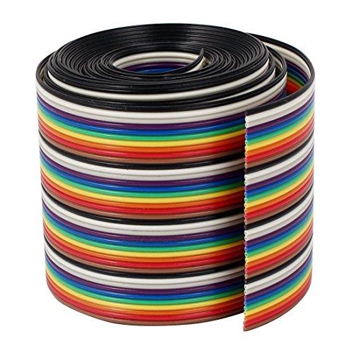VIPMOON 1M 1.17mm 40PIN Cable puente cinta arco iris