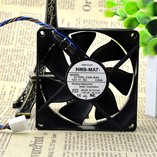 3110RL-04W-B86 8025 12V 0.65A 4-wire 8CM temperature control cooling fan