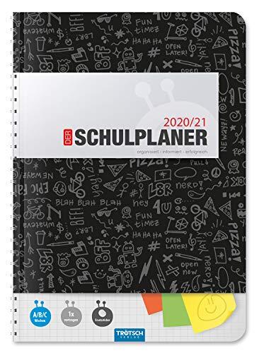 """Trötsch Schulplaner """"Schwarz"""" 2020/2021: Wire-O-Bindung"""