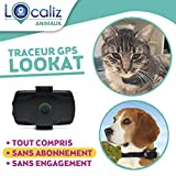 LOCALIZ Lookat Traceur GPS pour Chien et Chat 100% étanche