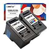 CSSTAR Remanufactured Ink Cartridge Replacement for Canon PG-210XL CL-211XL (Black & Color, 2-Pack)