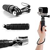 Duragadget Poignée Noir compacte pour Caméra Sportive GEONAUTE G-Eye 300, 500, 700 Full HD 1080P avec écran LCD + Cordon...