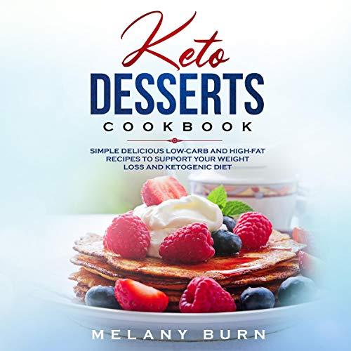 Keto Desserts Cookbook cover art