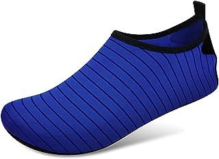 Zwemmen water schoenen sokken, blootsvoets bescherming snel droge aqua sokken voor zee strand zwembad mannen vrouwen,Blue,...