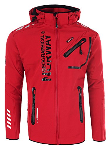 Geographical Norway Chaqueta Rainmen para hombre rojo, negro XXXL