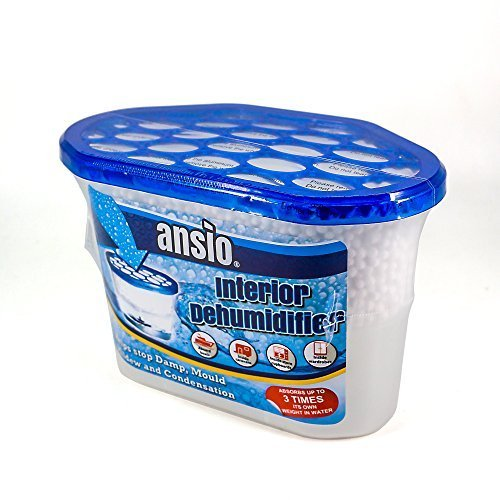 ANSIO Dehumidifier Pack of 10 x 500ml Condensation Remover Moisture Absorber, Dehumidifiers for Damp, Mould, Moisture in Home, Kitchen, Wardrobe, Bedroom, Caravan, Office, Garage, Bathroom, Basement 500 ml, Pack of 10
