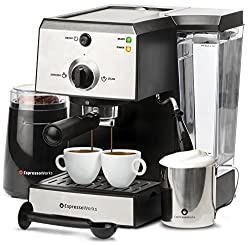 EspressoWorks 7 Pc All-In-One Espresso Bean To Cup Coffee Machine