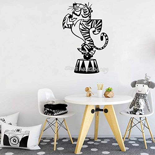 Blrpbc Pegatinas de Pared Adhesivos Pared Tigre de Dibujos Animados Vinilo Lindo Animal calcomanía para Sala de Estar habitación de niños guardería-kcwalldecals Mural 57x90cm