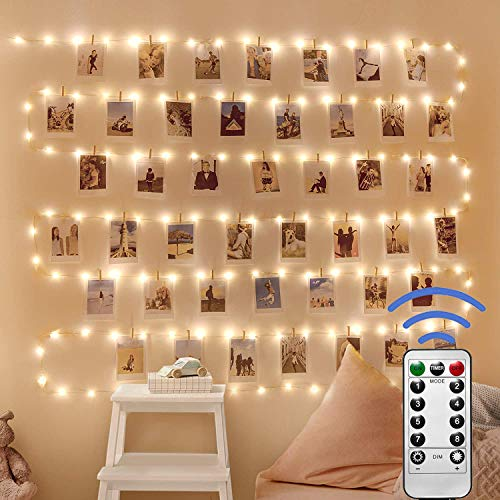 [2 Pack]Ooklee Fairy String Lights USB Powered, 10m 100 LED 8 Modes Copper Wire Light Remote Timer, Twinkle Firefly Lighting for Girls Bedroom Party Room Christmas Night Decor(Warm White)